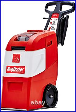 Rug Doctor Mighty Pro X3 Commercial Carpet Cleaner, Pet Pack Out, Red