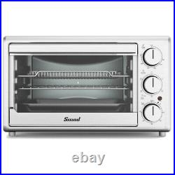 SMAD 0.9 cu. Ft. Toaster Oven 1800 W 6-Slice Air Fry Convection Stainless Steel