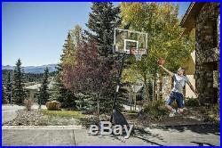 SPALDING 54 PORTABLE BASKETBALL System Adjustable Hoop Backboard Angled Pole