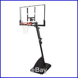 SPALDING 54 PORTABLE BASKETBALL System Adjustable Hoop Backboard Net Pole 66291