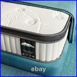 Serweet 10 Inch Queen Size Mattress Hybrid Memory Foam Pocket Spring Medium Firm