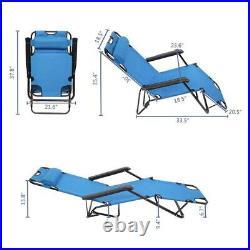 Set of 2 Zero Gravity Chairs Folding Lounger Beach Outdoor Metal Patio Recliner