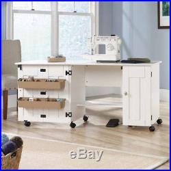 Sewing Craft Table Home Indoor Shelving Storage Adjustable Organizer Furniture