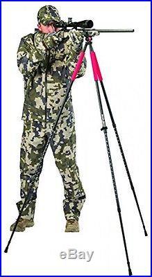 Shooting Stick Tripod Rifle Gun Rest Pod Adjustable Swivel Hunting Portable New