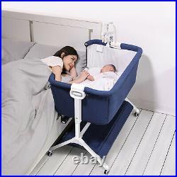 Side Sleeper Bedside Portable Infant Bassinet Baby Crib Adjustable