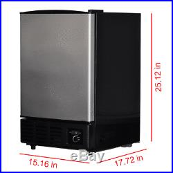 Smad Undercounter Built-In Commercial Ice Cube Machine Stainless Steel Ice Maker