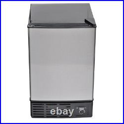 Smad Undercounter Built-In Ice Maker Stainless Steel Compact Ice Cubes Machine