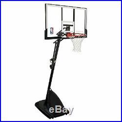 Spalding 54 Portable Basketball Hoop Adjustable System Backboard Angled Pole
