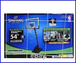 Spalding NBA 54 Polycarbonate Backboard Adjustable Portable basket Ball System
