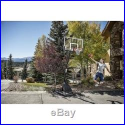 Spalding NBA 54 Portable Angled Basketball Hoop Adjustable Net Pole System New