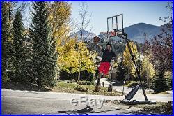 Spalding NBA 54 Portable Basketball Goal Adjustable Height Pole, Break-Away Rim