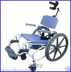 Tilt Aluminum Shower Commode Chair Adjustable 18 Toilet Seat 250 lbs. Tilting
