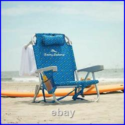 Tommy Bahama Back Pack Beach Chair Folding Backpack Deck Chair Blue 2 PACK