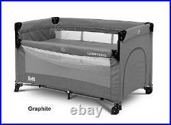 Travel Cot Esti Sleeping Crib Adjustable Baby Next To Me Bed Foldable Graphite