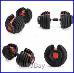 US ONLY! Portable Adjustable Dumbbell Weightlifting Gym Home, Travel Set (2)
