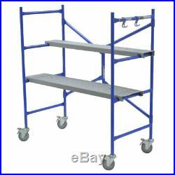 Werner 4' Portable Rolling Scaffolding Platform Adjustable Construction Painting