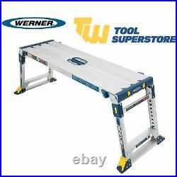 Werner Pro Work Adjustable Platform Hop Up 136Kg Capacity Height Adjust Foldable