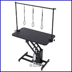 Z-Lift Hydraulic Dog Pet Grooming Table Portable Arm & Noose Make up Adjustable