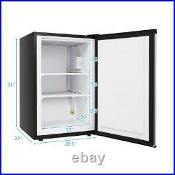 Zokop Small 3.0 cu. Ft Upright Freezer Stainless Steel Door Mini Fridges