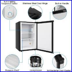 Zokop Upgrade 3.0 cu. Ft Upright Only Freezer Stainless Steel Door Mini Fridges